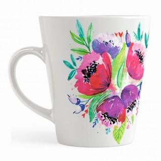 Кружка Букет цветов кофейная / малая