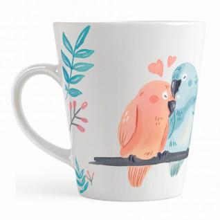 Кружка Попугаи кофейная / малая