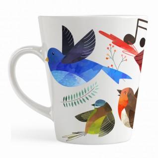 Кружка Акварельные Птицы кофейная / малая