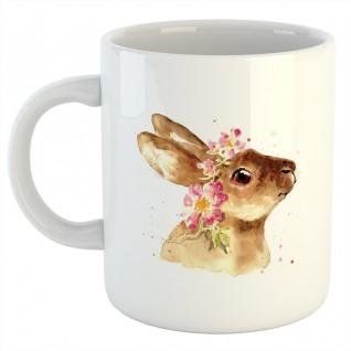Кружка белая Кролик